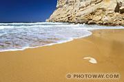 Fond d'écran plage Red Beach en Crète