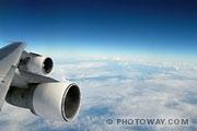 Fond d'écran Ciel Atlantique vu d'avion