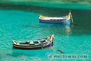 Fond d'écran malte bateaux Luzzu