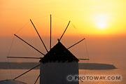 Fond d'écran coucher de soleil Santorin