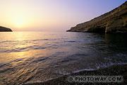 Fond d'écran Crète coucher de soleil à Matala