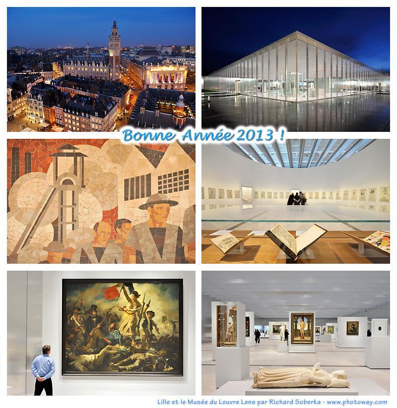 Carte de bonne année 2013 du Louvre Lens