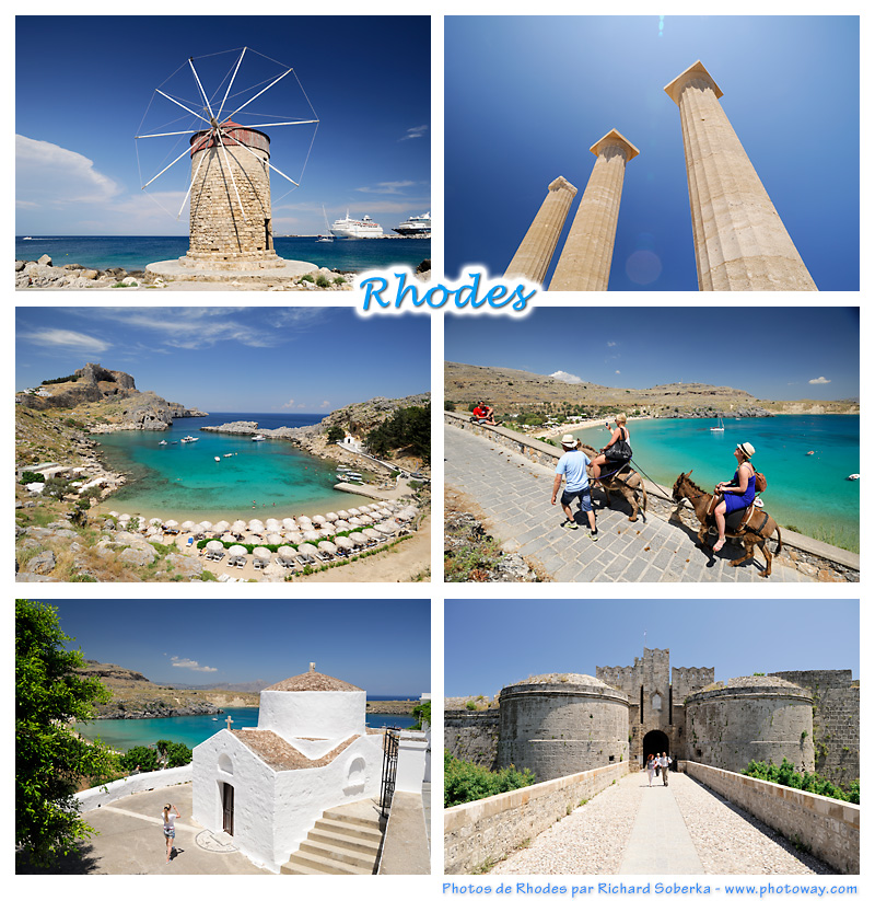 Carte postale de Rhodes - Grèce