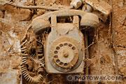 Photos insolites : photo d'un vieux téléphone