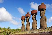 Photos des statues de l'ile de Pâques