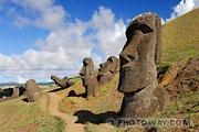 Photos des Moaïs, les statues de l'ile de Pâques