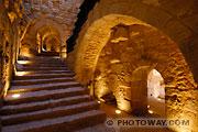 Photos des couloirs de la forteresse Qalaat al Rabad