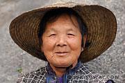 Galerie de portraits : Photo d'une vieille chinoise à Macao