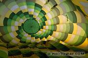 Photos du graphisme d'une montgolfière