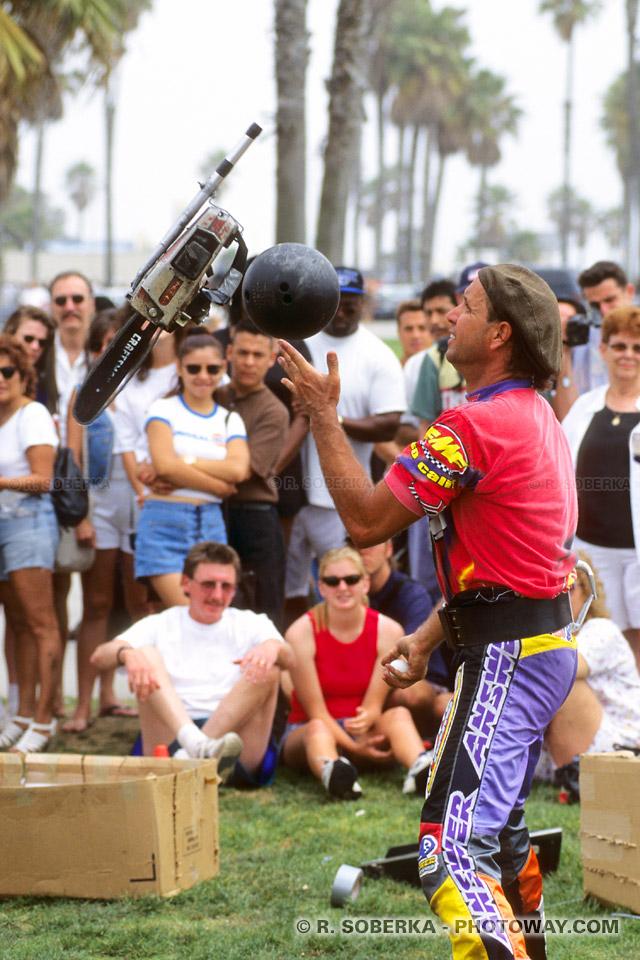 Photos de jongleurs : Photo du jongleur Robert Gruenberg à Venice Beach