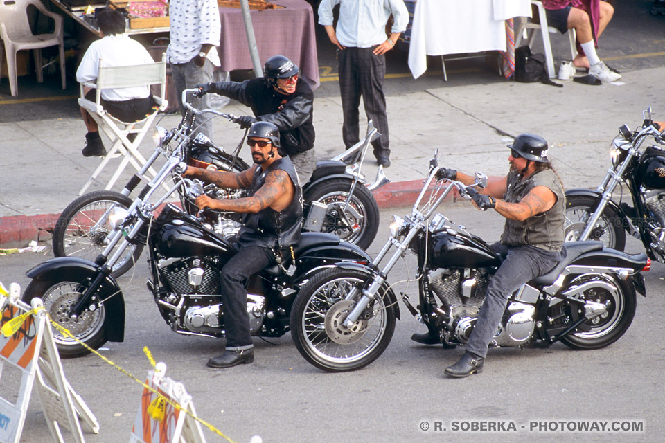 Photos de Bikers : photo de Harley Davidson en Californie aux USA