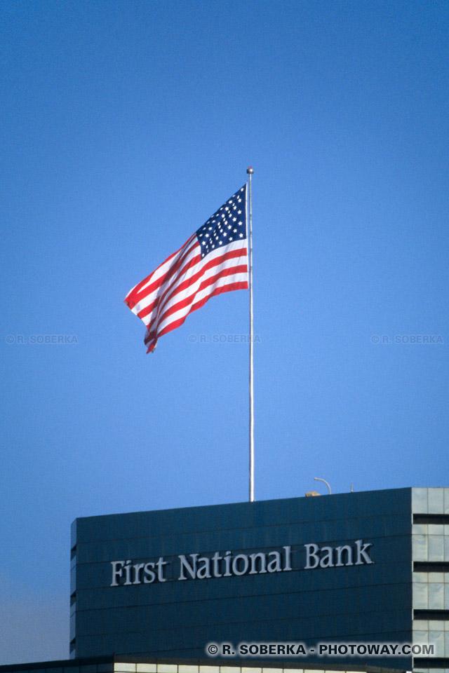 Photo du drapeau Américain. Photos de Drapeaux Américains Etats-Unis