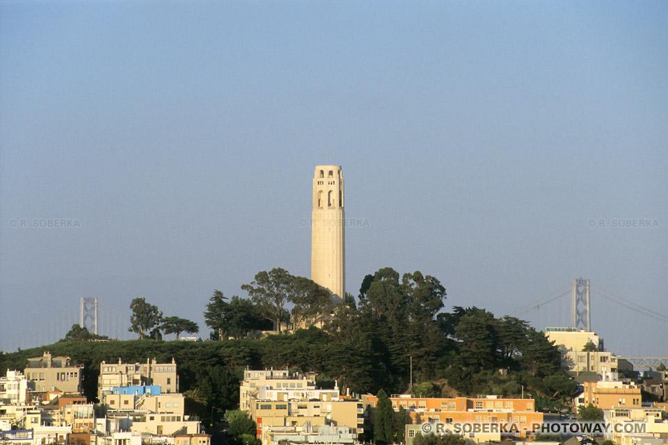 Photos de la Coit Tower de San Francisco : photo tour coit en Californie