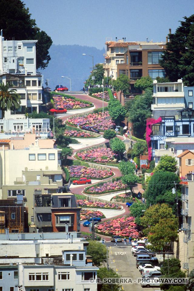 Photos du Russian Hill - photo de Lombard Street San Francisco Californie