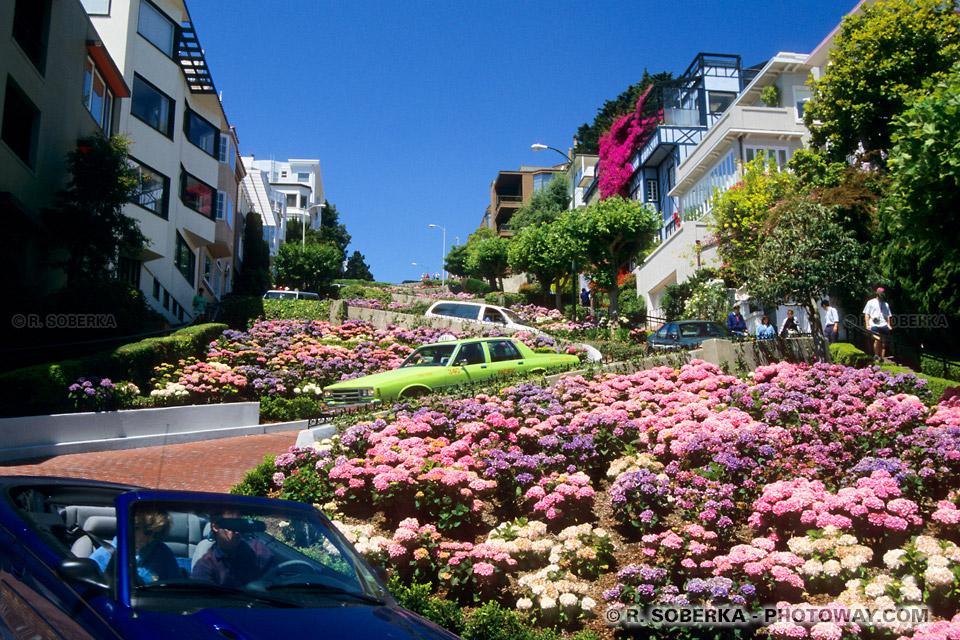 Photo de rue en ZigZag à San Francisco : photos de rues en zigzags à SF