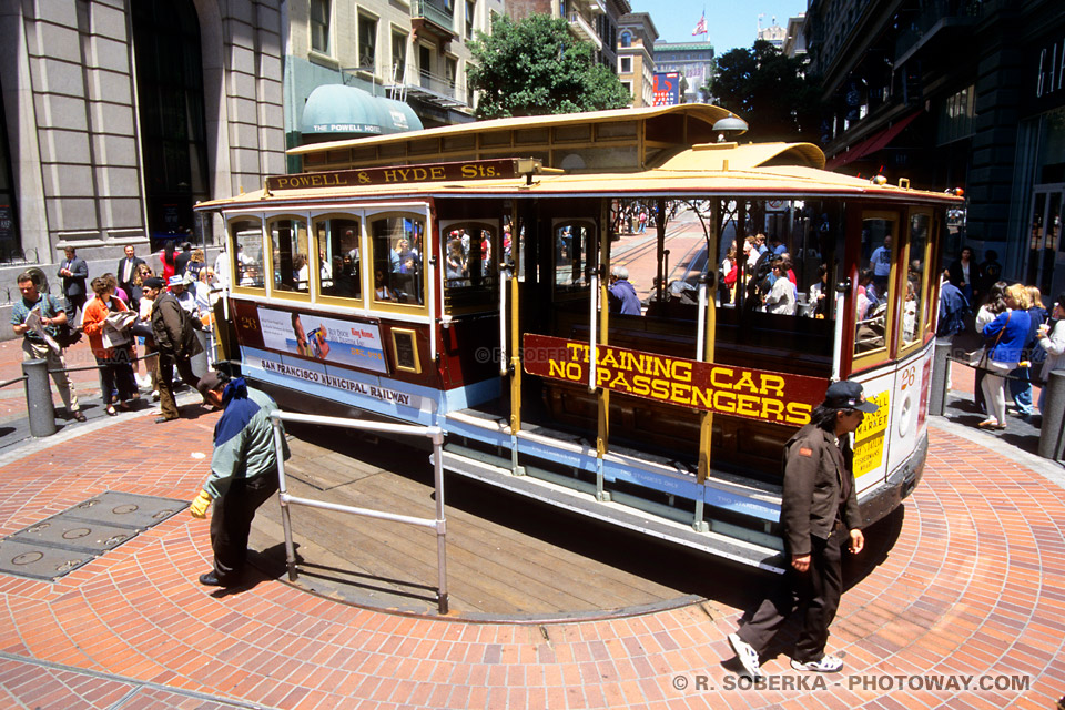Photos de wagons : photo d'un wagon du Tramway de San Francisco