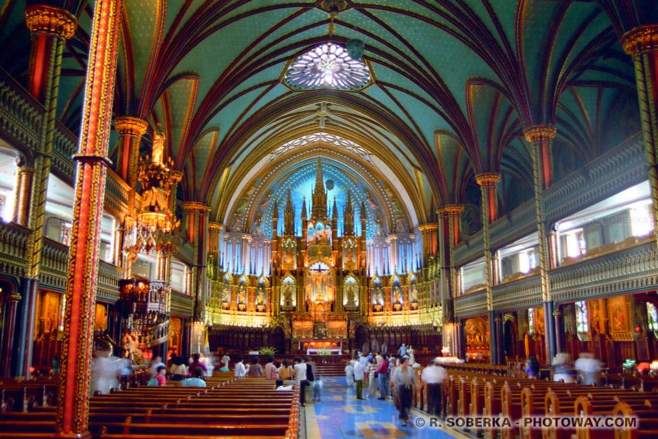 Photo de la Basilique Notre-Dame photos à Montréal au Canada