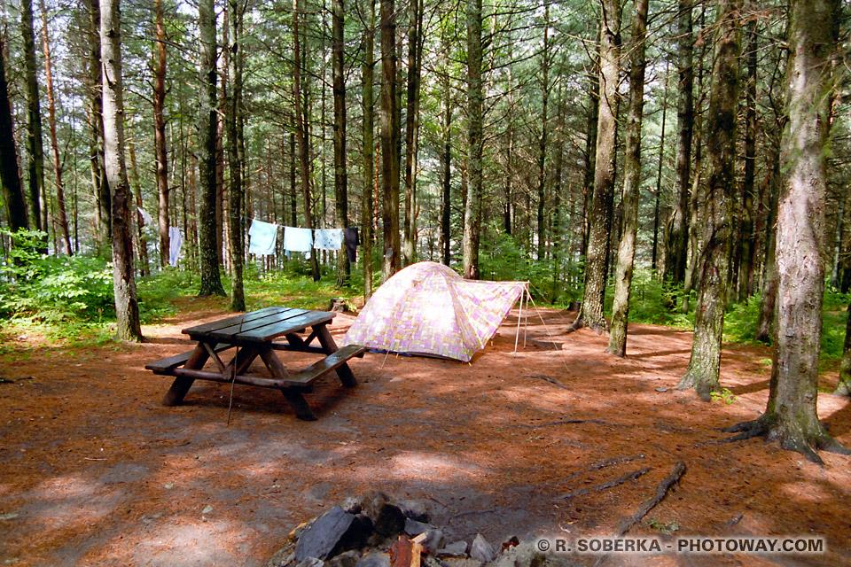 Photos du camping au canada - photo parc Algonquin au Canada