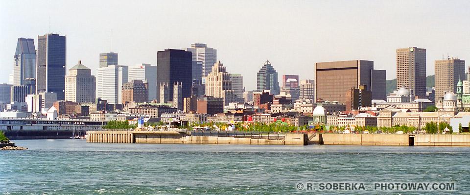 Photos de Montréal : photo du fleuve Saint-Laurent au Canada