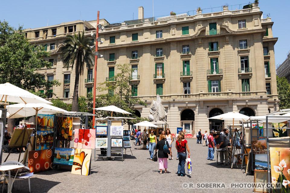 Image Plaza de Armas à Santiago et Informations sur la météo et Climat au Chili