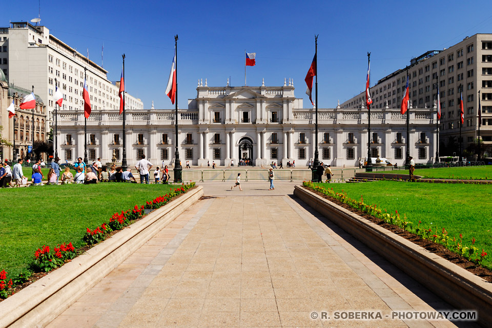Photos de La Moneda : photo du palais de la Moneda à Santiago au Chili