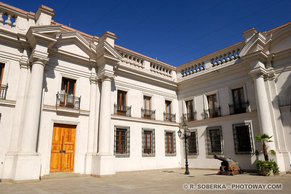Images : Photo du siège du gouvernement Chilien photos de la Moneda à Santiago