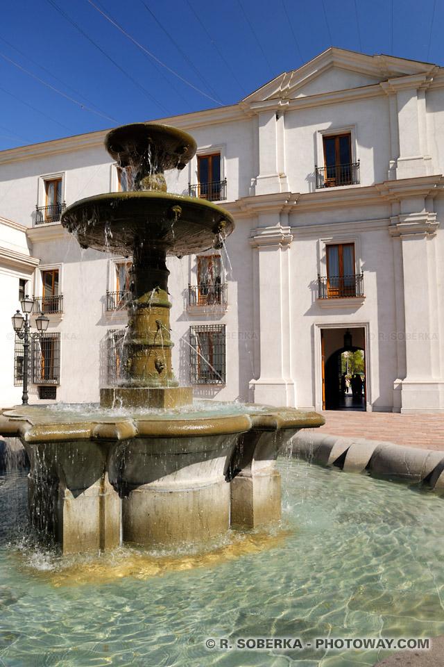 Image de la visite du palais de la Moneda à Santiago du Chili