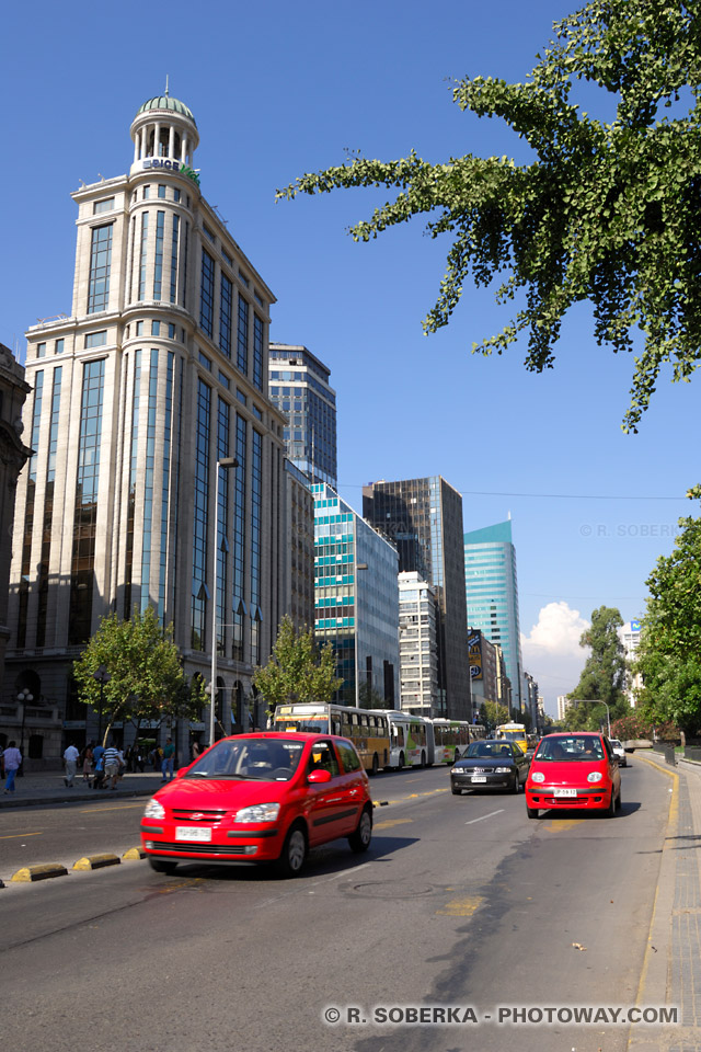 Photo de Santiago au Chili : photos du boulevard Bernardo O'Higgins