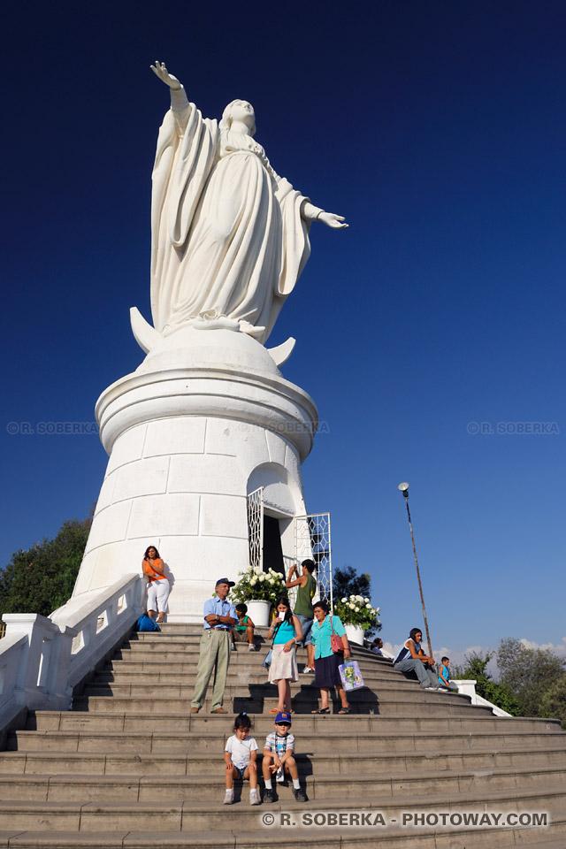 Photo de la Vierge Marie de Santiago au Chili