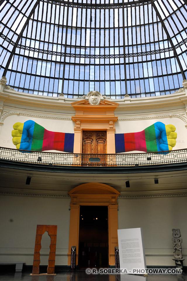 Photo de la visite du musée des beaxu-arts à Santiago au Chili guide de tourisme
