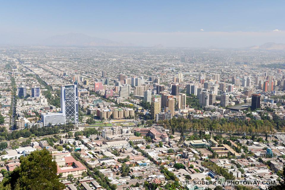 Photo de Santiago prise depuis le Cerro San Cristobal