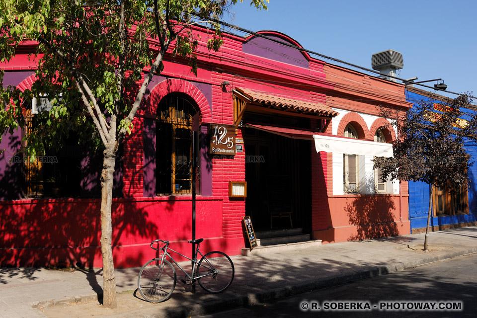 Photos de bars du quartier Bellavista - Vie nocturne à Santiago au Chili