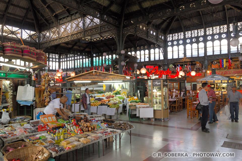 Photos du marché central de Santiago au Chili photo du Mercado Central