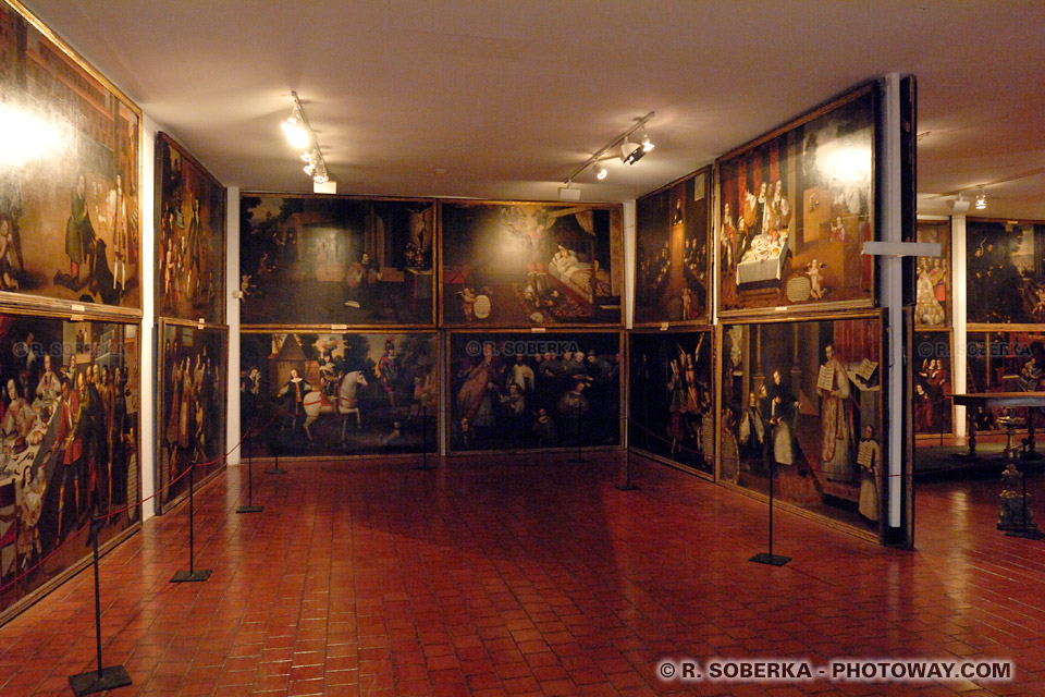 Photos des tableaux de Saint François d'assises au musée Colonial San Francisco à Santiago au Chili