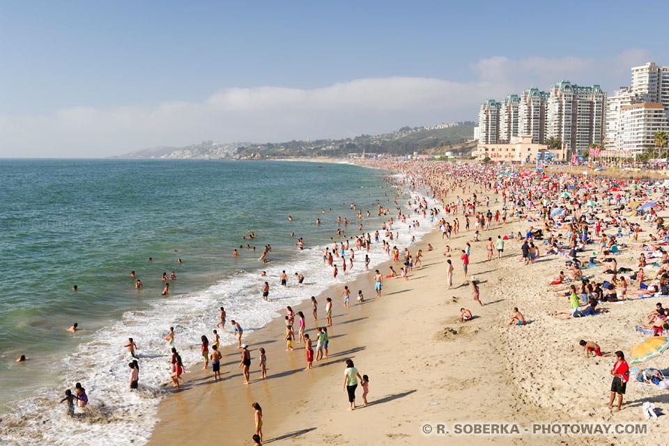 Plage de Viña del Mar au Chili