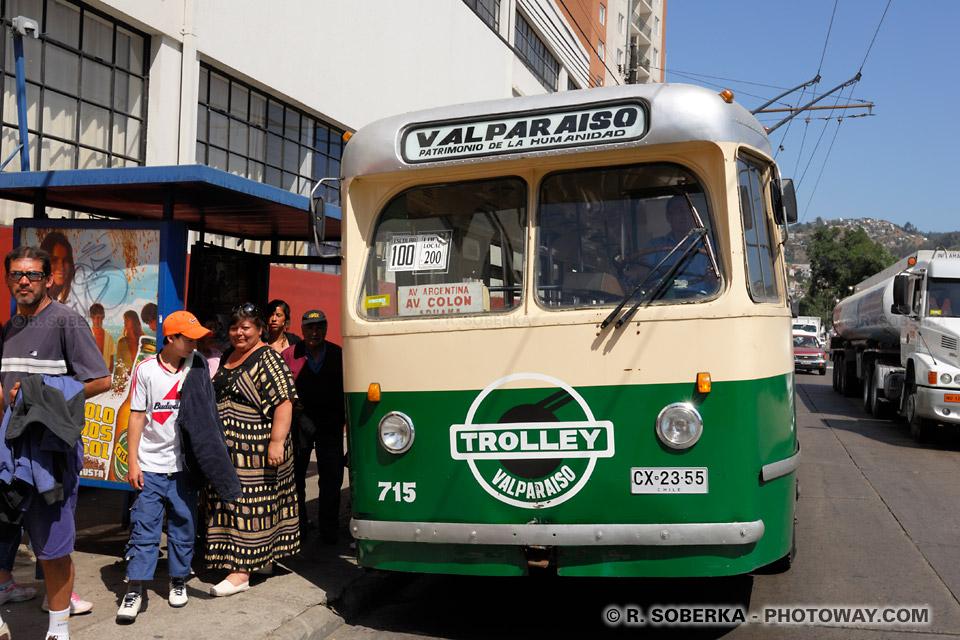 Trolleybus photos des trolleybus de Valparaíso au Chili