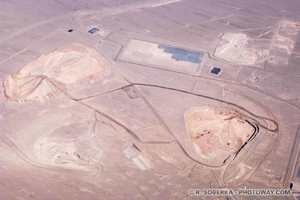 Photos de mines : photo d'une mine de lithium au Chili