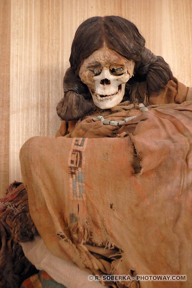 Photos de momies : photo de momies du désert d'Atacama au Chili