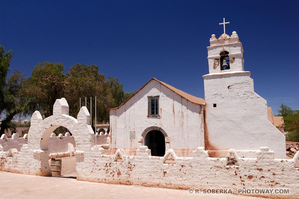 Photos de l'église de San Pedro de Atacama au Chili