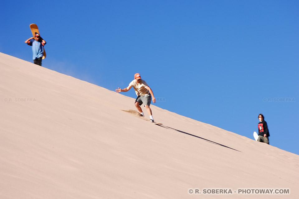 Surf dans le sable surf des sables dans les dunes au Chili