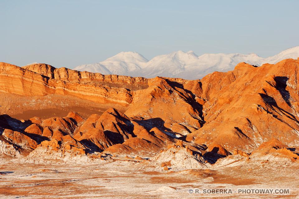 Visite de la Vallé de la Lune Photo des montagnes du Chili