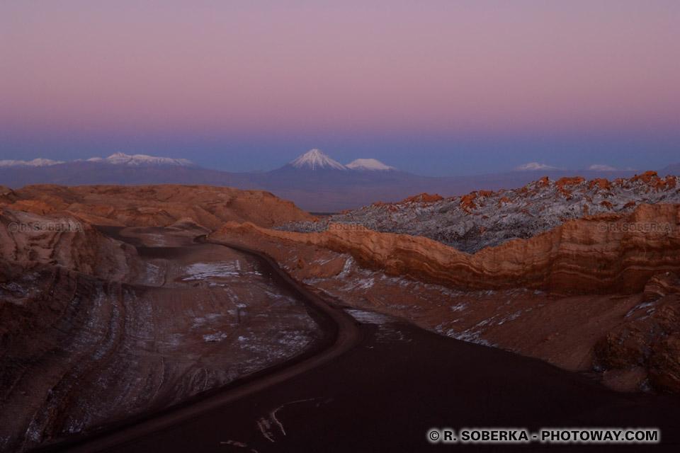 coucher de soleil sur la cordillère des Andes Photos au Chili