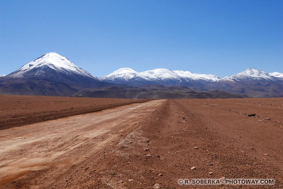 Photos de champs de mines au Chili dans le désert d'Atacama