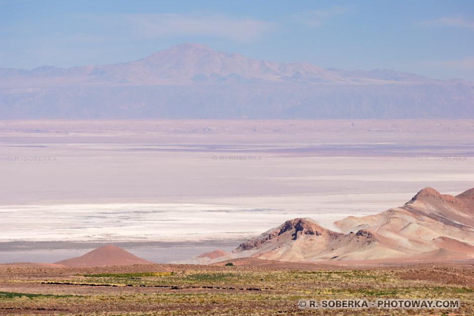 Salar d'Atacama - image du désert de sel au Chili