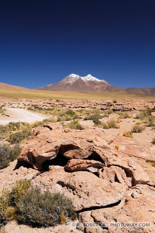 Cendres volcaniques photos dans l'Altiplano au Chili