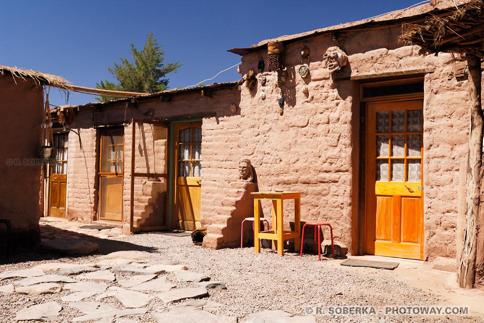 Image d'un hébergement à San Pedro de Atacama - une chambre d'hotel pas cher