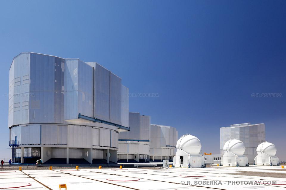 Photos des télescopes VLTI au Chili photo télescope à Paranal