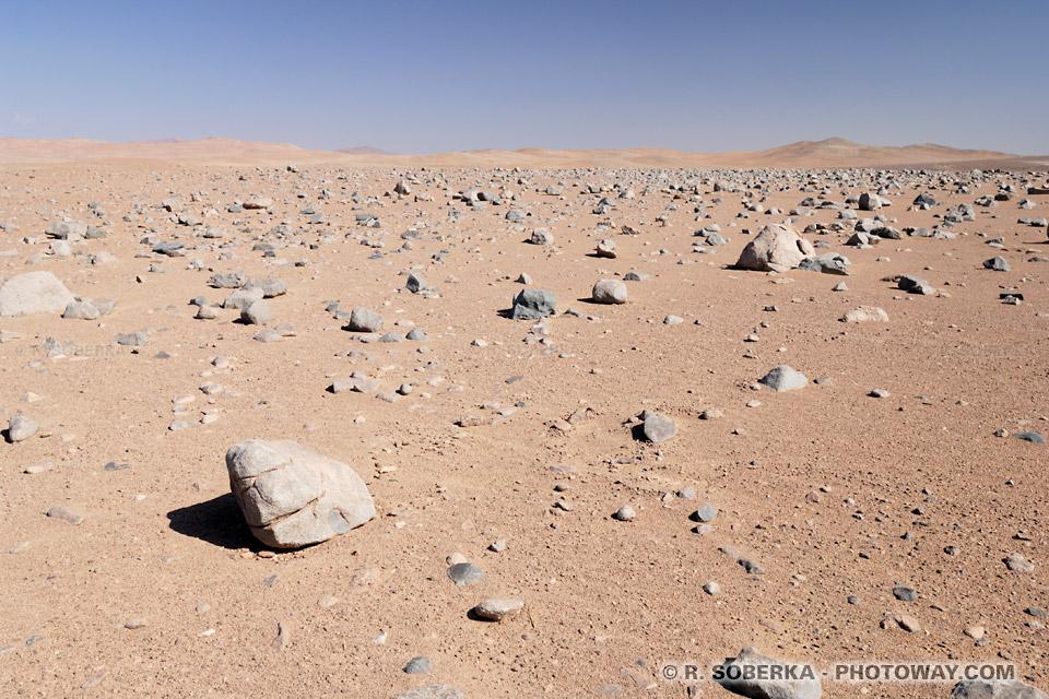 """Photos du sol """"martien"""" où sonts testés les robots sondes envoyés sur Mars"""