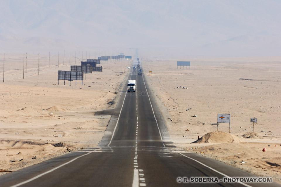 panaméricaine image de l'autoroute panaméricaine au Chili