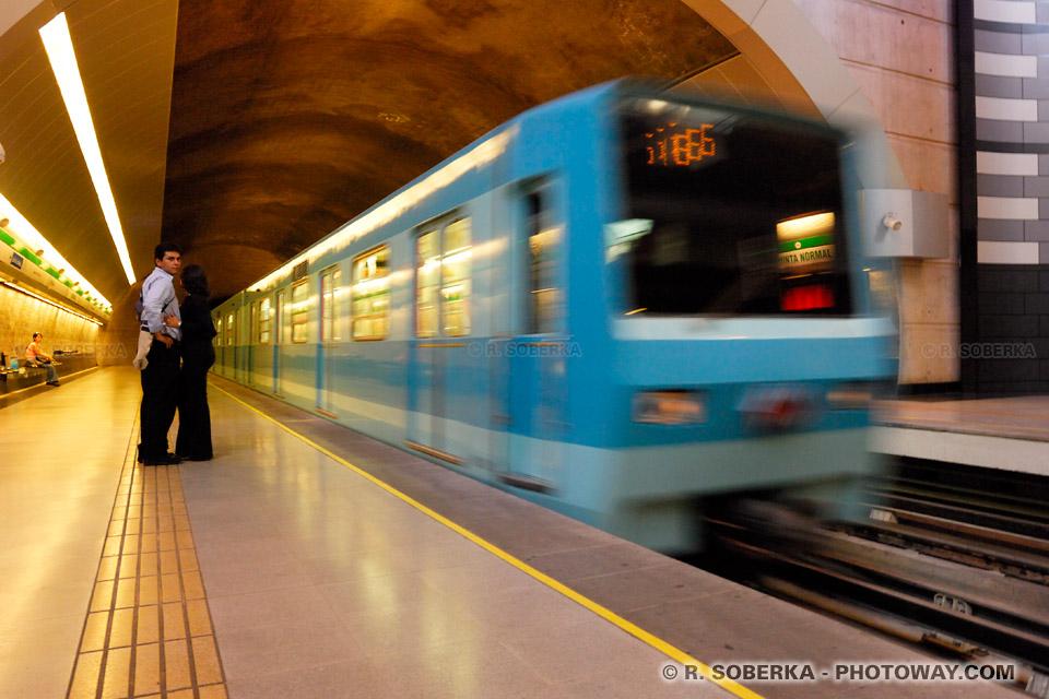 Photos du métro de Santiago photo d'une rame de métro